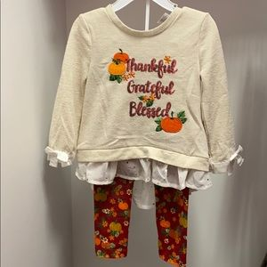 Toddler 2T Thanksgiving Little Lass outfit